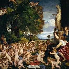 The Offering to Venus, c.1518/19 by Titian | Painting Reproduction