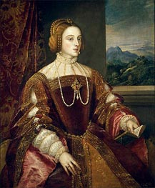 Empress Isabel of Portugal, 1548 by Titian | Painting Reproduction