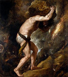 Sisyphus, c.1548/49 by Titian | Painting Reproduction
