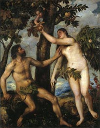 Adam and Eve, c.1550 by Titian | Painting Reproduction