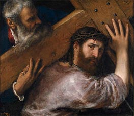 Christ and the Cyrenian, 1547 by Titian | Painting Reproduction