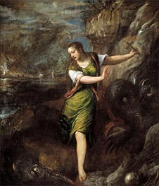 Saint Margaret, c.1556 by Titian | Painting Reproduction