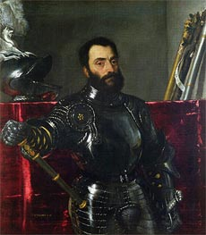 Portrait of Francesco Maria Della Rovere, Duke of Urbino, Undated by Titian | Painting Reproduction