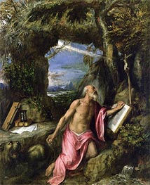 St. Jerome, Undated by Titian | Painting Reproduction