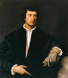 The Man with a Glove, c.1520 by Titian | Painting Reproduction