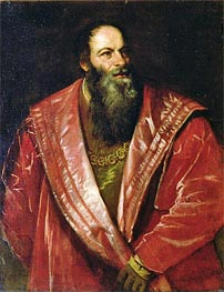 Portrait of Pietro Aretino (The Aretin) , 1545 by Titian | Painting Reproduction