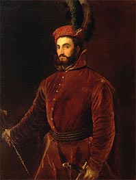 Portrait of Ippolito de' Medici, 1533 by Titian | Painting Reproduction