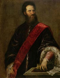 Portrait of Francesco Savorgnan della Torre, a Member of the Maggior Consiglio, c.1560 by Titian | Painting Reproduction