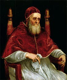 Pope Julius II, after a painting by Raphael, Undated by Titian | Painting Reproduction