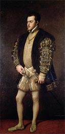 Portrait of Philip II of Spain, Undated by Titian | Painting Reproduction