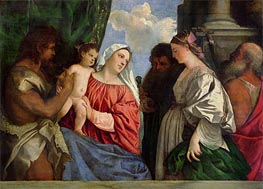 Virgin and Child with Four Saints, c.1516 by Titian | Painting Reproduction