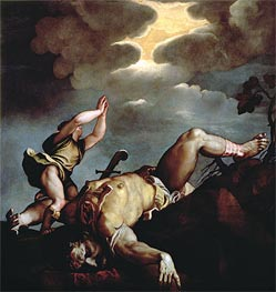 David's Victory over Goliath, Undated by Titian | Painting Reproduction