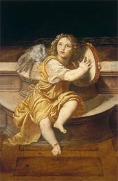 Angel with Tambourine, Undated by Titian | Painting Reproduction