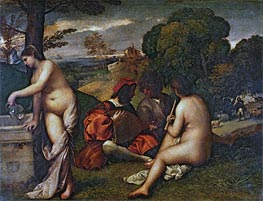 The Pastoral Concert, c.1509 by Titian | Painting Reproduction