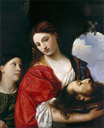 Salome with the head of St. John the Baptist | Titian | Painting Reproduction