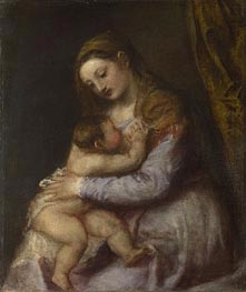 The Virgin Suckling the Infant Christ | Titian | Gemälde Reproduktion