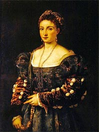 Portrait of a Woman (La Bella) | Titian | Painting Reproduction
