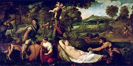 Pardo Venus or Jupiter and Antiope | Titian | Painting Reproduction