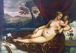 Venus and Cupid, Undated by Titian | Painting Reproduction