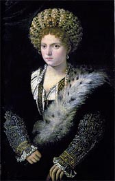 Portrait of Isabella d'Este | Titian | Painting Reproduction