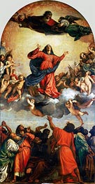 The Assumption of the Virgin, c.1516/18 by Titian | Painting Reproduction