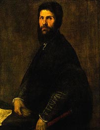 Man Holding a Flute | Titian | Painting Reproduction