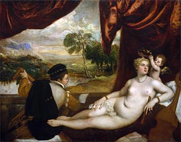 Venus and the Lute Player | Titian | Gemälde Reproduktion