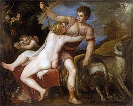 Venus and Adonis | Titian | Painting Reproduction
