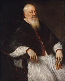Filippo Archinto, Archbishop of Milan, c.1550 by Titian | Painting Reproduction