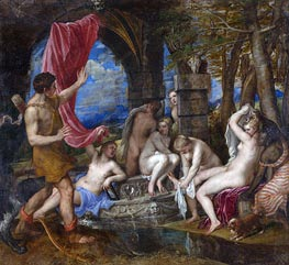 Diana and Actaeon, c.1556/59 by Titian | Painting Reproduction