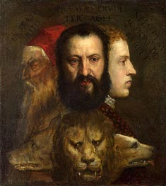 An Allegory of Prudence, c.1550/65 by Titian   Painting Reproduction