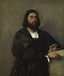 Portrait of a Man, Undated by Titian   Painting Reproduction