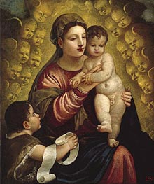 Virgin and Child with St. John, Undated by Titian   Painting Reproduction