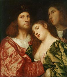 The Lovers, c.1510 by Titian   Painting Reproduction
