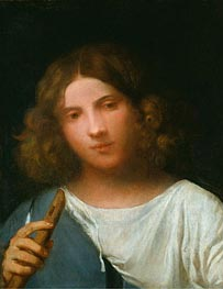 Boy with a Pipe (The Shepherd), c.1510/15 by Titian   Painting Reproduction