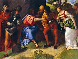 The Adulteress Brought before Christ, Undated by Titian | Painting Reproduction