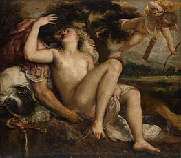 Mars, Venus and Cupid, c.1530 by Titian | Painting Reproduction