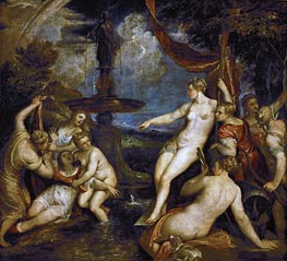Diana and Callisto, 1568 by Titian | Painting Reproduction