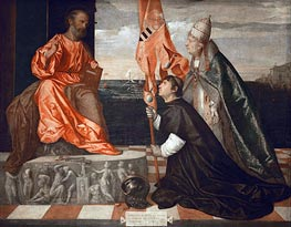Jacopo Pesaro Presented to St. Peter by Pope Alexander VI | Titian | Painting Reproduction