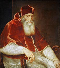 Pope Paul III Farnese | Titian | Painting Reproduction