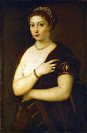 Young Woman with Fur | Titian | Painting Reproduction