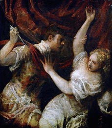 Tarquinius and Lucretia | Titian | Painting Reproduction