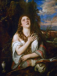 Magdalene, c.1560 by Titian | Painting Reproduction