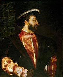 Portrait of Francois I, 1539 by Titian | Painting Reproduction