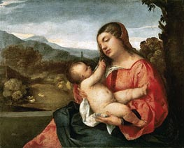 Madonna and Child in the Countryside, 1510 by Titian | Painting Reproduction