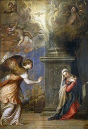 Annunciation, c.1557 by Titian | Painting Reproduction
