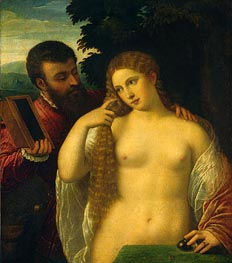 Allegory (Alfonso d'Este and Laura Dianti), undated by Titian | Painting Reproduction