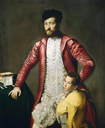 Alessandro Alberti with a Page, undated by Titian | Painting Reproduction