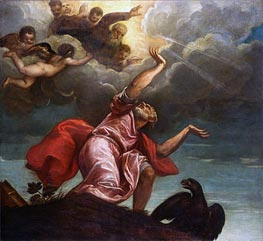 Saint John the Evangelist on Patmos, c.1547 by Titian | Painting Reproduction