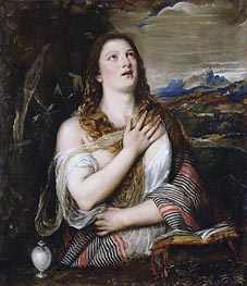 The Penitent Magdalene, c.1555/65 by Titian | Painting Reproduction